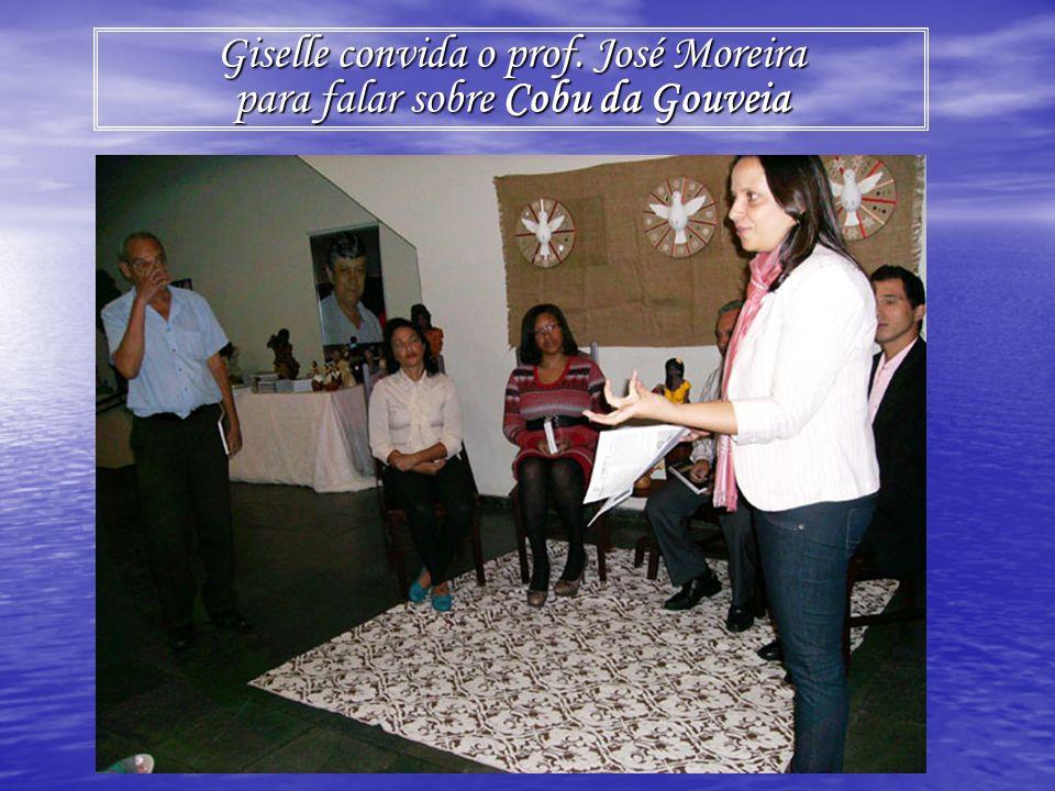 Giselle convida o prof. José Moreira para falar sobre Cobu da Gouveia