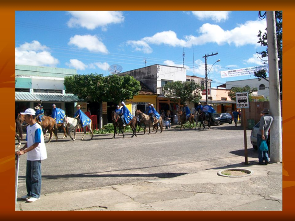 Estudantes da APAE acompanham a cavalgada