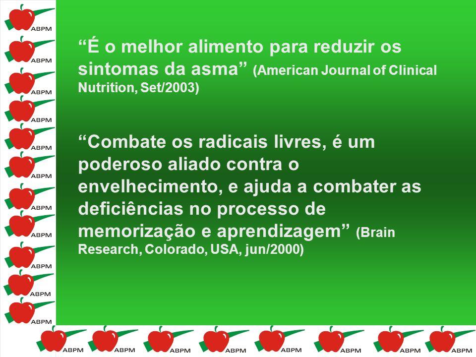 É o melhor alimento para reduzir os sintomas da asma (American Journal of Clinical Nutrition, Set/2003) Combate os radicais livres, é um poderoso alia