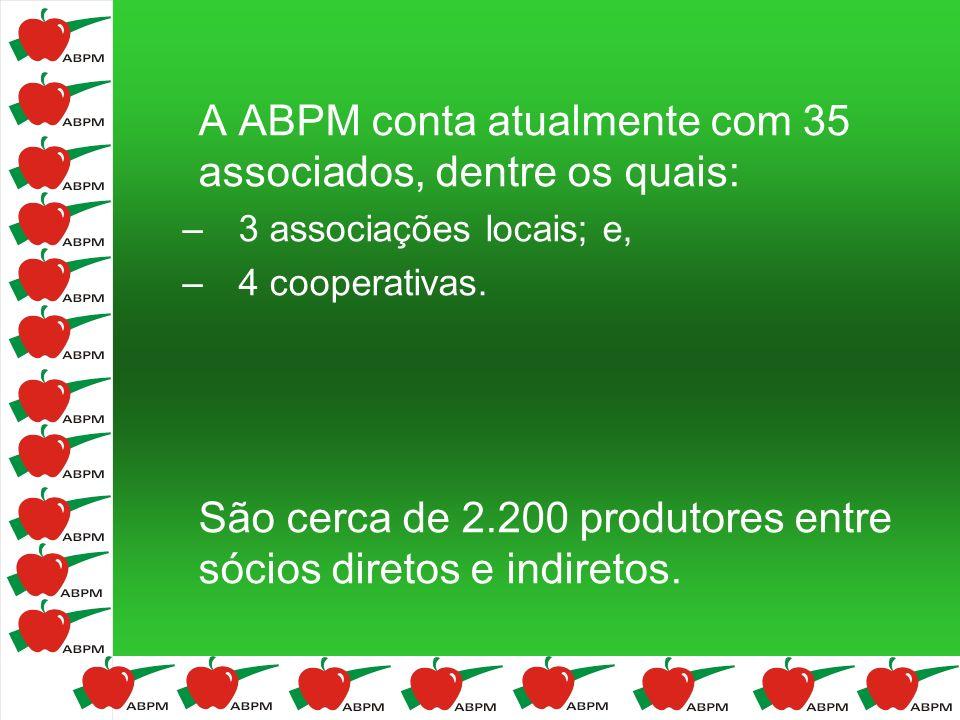 CAPACIDADE DE ARMAZENAGEM FRIGORÍFICA (t) Fonte: ABPM/AGAPOMI/FRUTIPAR Tipo de FrioCapacidade (t) (%) AC427.30663% Convencional239.64037% Total666.946100%