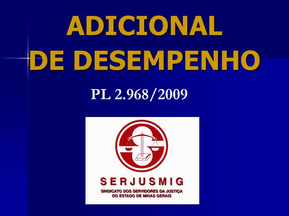 ADICIONAL DE DESEMPENHO ( ADE ) Esse adicional veio substituir os adicionais por tempo de serviço (Quinquênios e Trintenários) - EC 57/03.