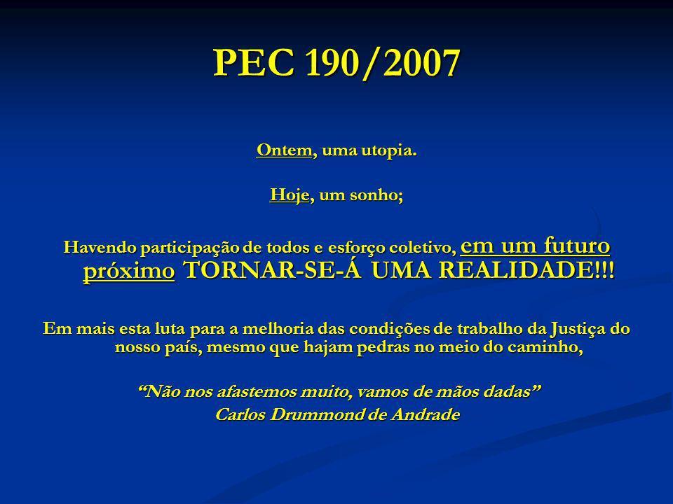 PEC 190/2007 Ontem, uma utopia.
