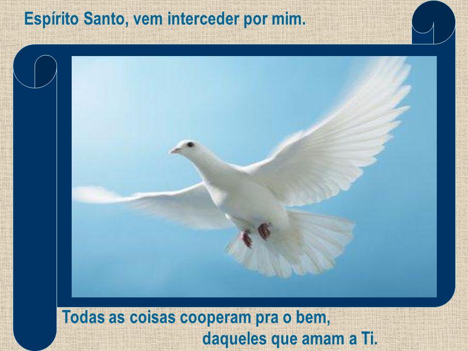 Espírito Santo, vem interceder por mim. Todas as coisas cooperam pra o bem, daqueles que amam a Ti.