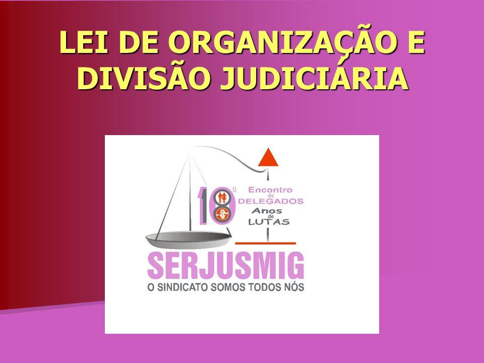 LEI DE ORGANIZAÇÃO E DIVISÃO JUDICIÁRIA