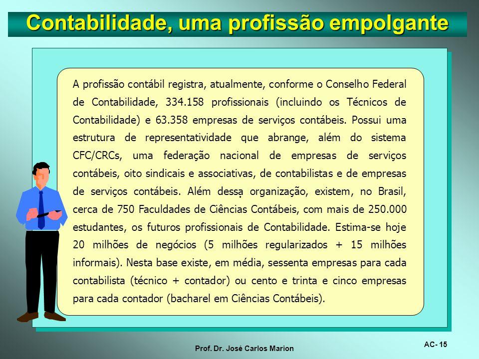 AC- 14 Prof. Dr. José Carlos Marion. Em artigo no Valor Econômico o autor diz que a figura do contador torna-se da vez mais vital e bem remunerada no
