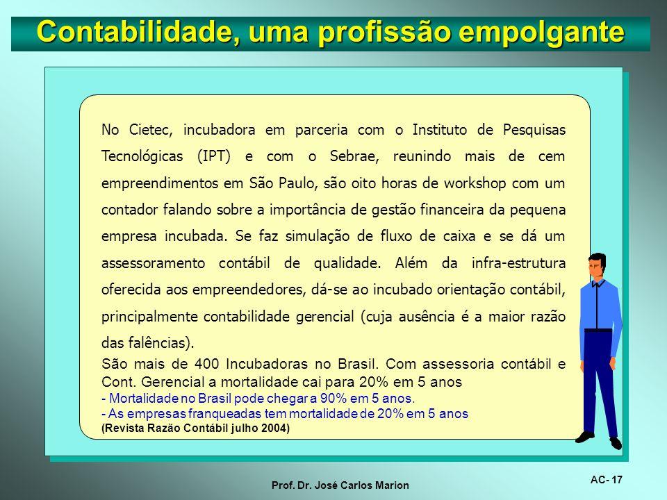 AC- 16 Prof. Dr. José Carlos Marion Contabilidade, uma profissão empolgante Na África, a profissão de contador está sendo utilizada para melhorar os í