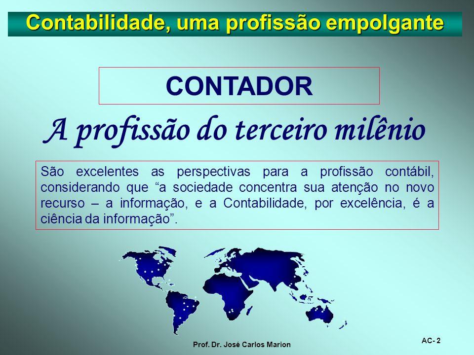 AC- 1 Prof. Dr. José Carlos Marion Contabilidade, uma profissão empolgante