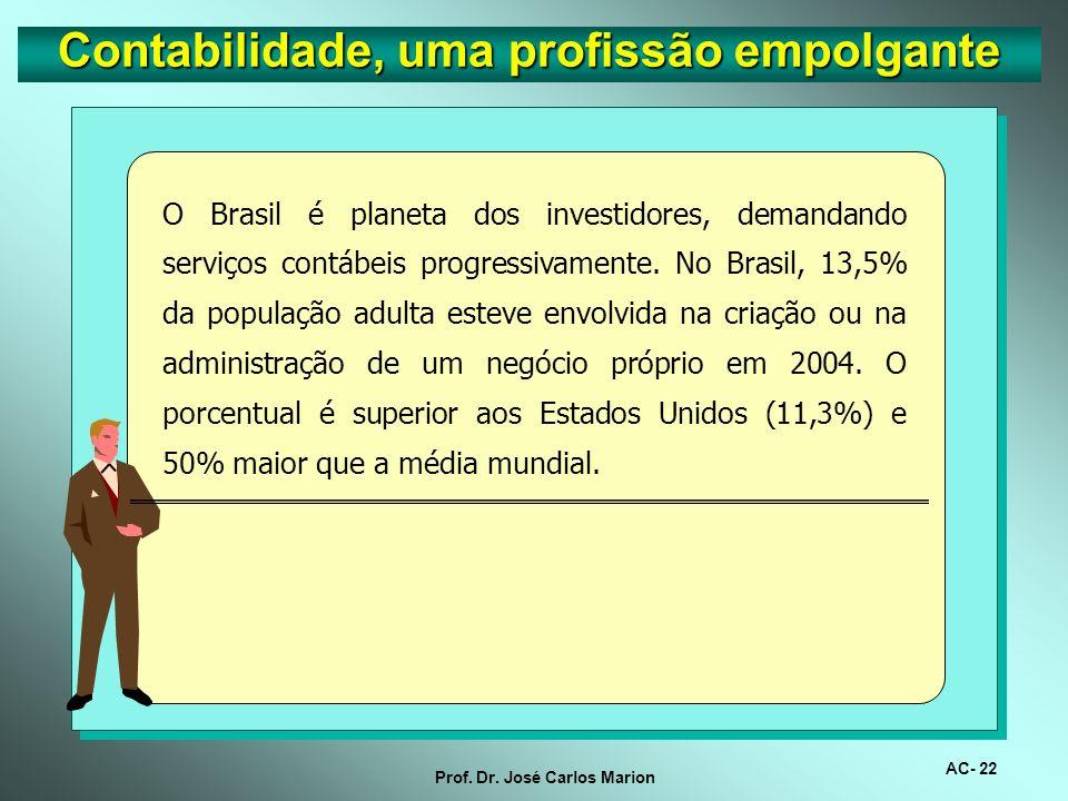 AC- 21 Prof. Dr. José Carlos Marion Na página 70 da revista Profissões 2005 é destacado que a profissão contábil está sendo beneficiada pelos seus ser