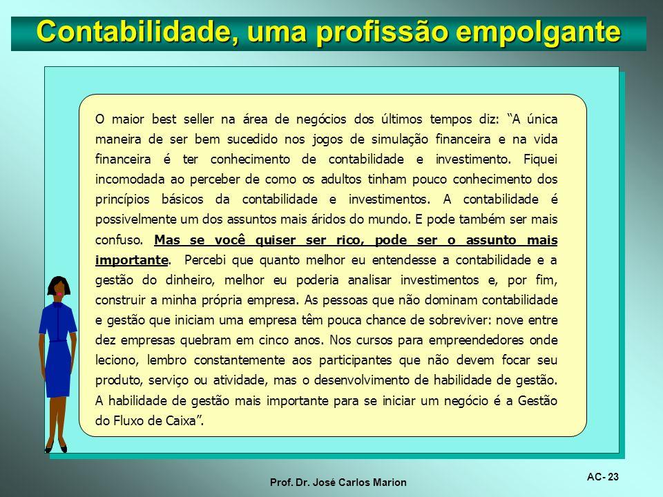 AC- 22 Prof. Dr. José Carlos Marion O Brasil é planeta dos investidores, demandando serviços contábeis progressivamente. No Brasil, 13,5% da população