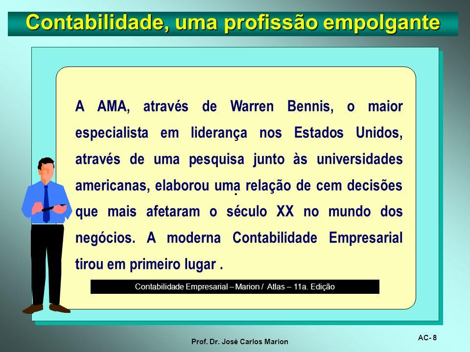AC- 7 Prof. Dr. José Carlos Marion Contabilidade, uma profissão empolgante Avaliador / Auditor Avaliador / Auditor Repórter / Comunicador Repórter / C