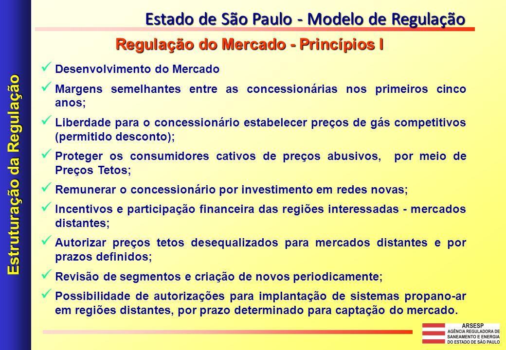 Desenvolvimento do Mercado Margens semelhantes entre as concessionárias nos primeiros cinco anos; Liberdade para o concessionário estabelecer preços d