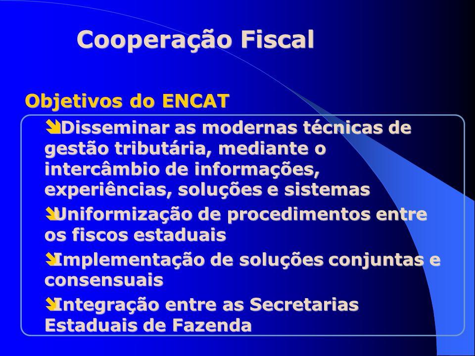 Objetivos do ENCAT Disseminar as modernas técnicas de gestão tributária, mediante o intercâmbio de informações, experiências, soluções e sistemas Unif