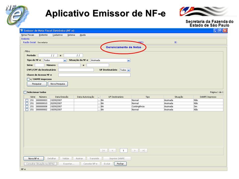 Secretaria da Fazenda do Estado de São Paulo Aplicativo Emissor de NF-e