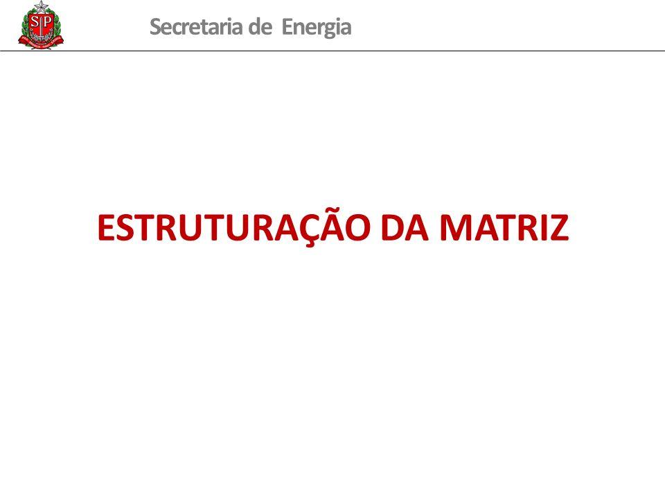 Secretaria de Energia ESTRUTURAÇÃO DA MATRIZ