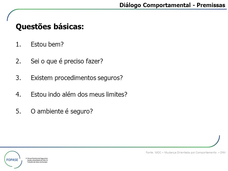 Diálogo Comportamental - Registro