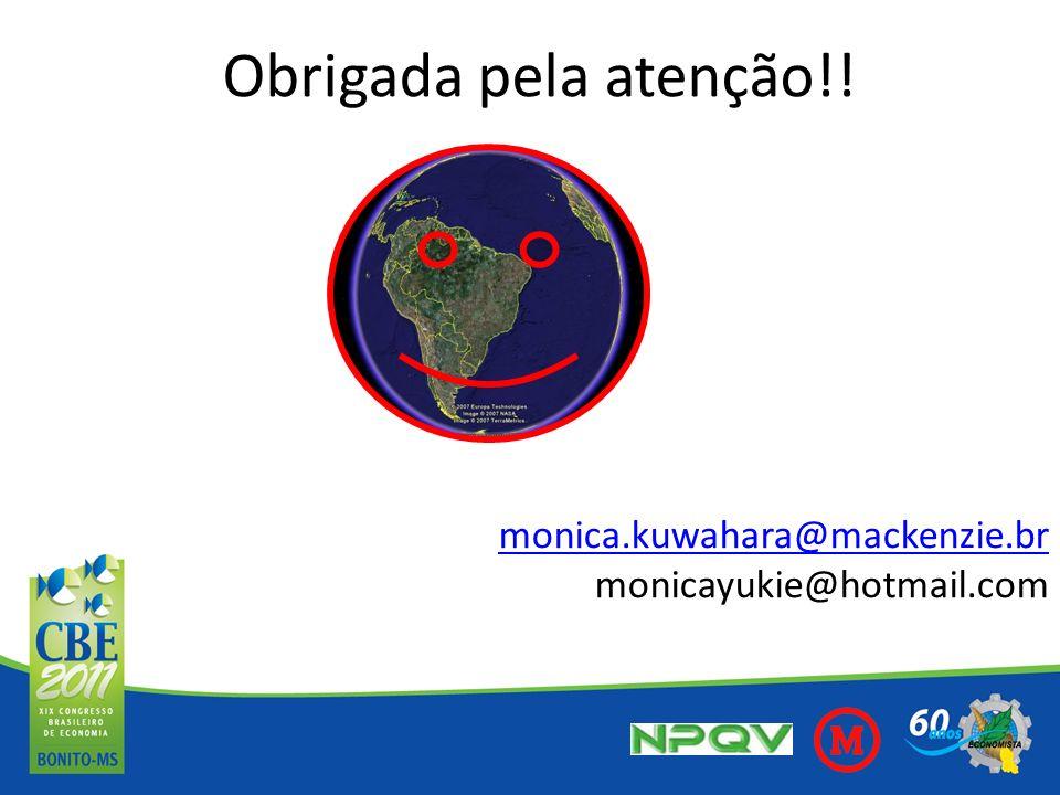 Obrigada pela atenção!! monica.kuwahara@mackenzie.br monicayukie@hotmail.com