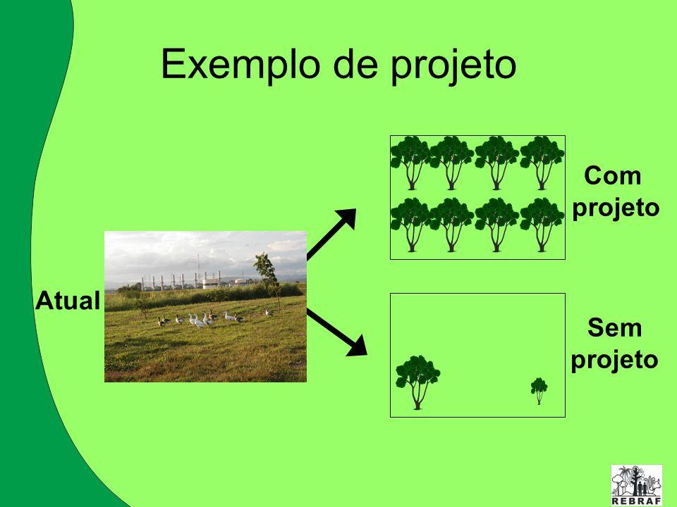 Com projeto Sem projeto Atual Exemplo de projeto