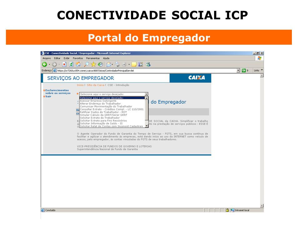CONECTIVIDADE SOCIAL ICP Portal do Empregador