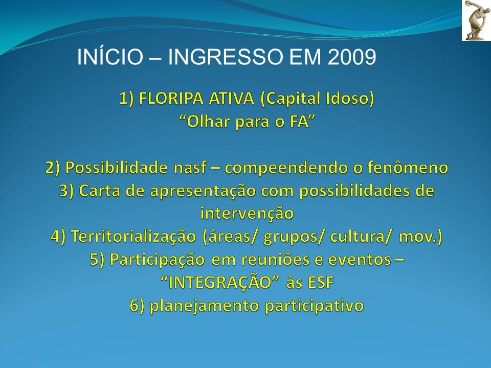 INÍCIO – INGRESSO EM 2009