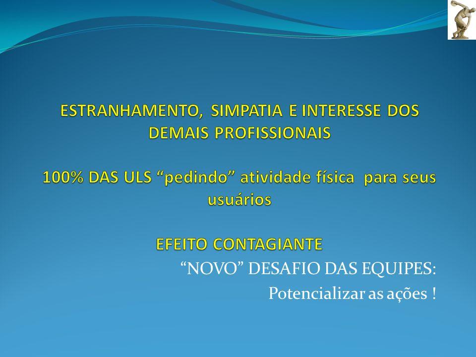 NOVO DESAFIO DAS EQUIPES: Potencializar as ações !