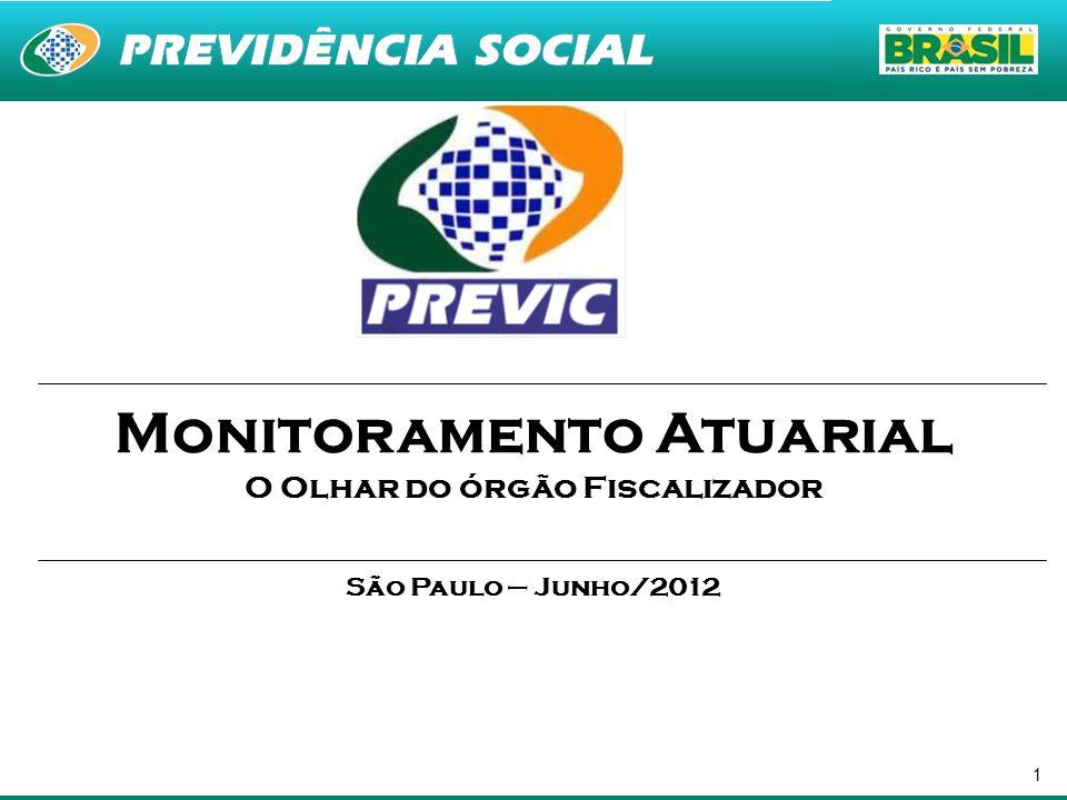 1 Monitoramento Atuarial O Olhar do órgão Fiscalizador São Paulo – Junho/2012