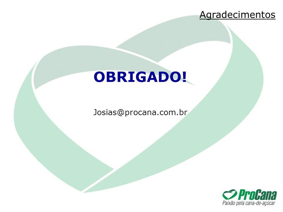 Agradecimentos Josias@procana.com.br OBRIGADO!