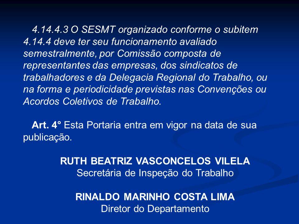 4.14.4.1 O dimensionamento do SESMT comum organizado na forma do subitem 4.14.4 deve considerar o somatório dos trabalhadores assistidos e a atividade