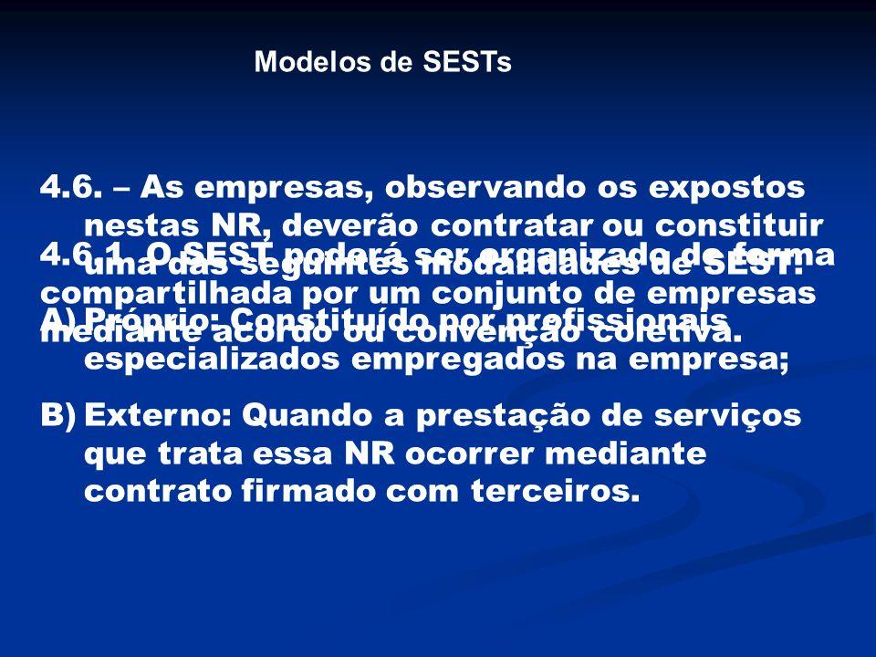 4.14.4.3 O SESMT organizado conforme o subitem 4.14.4 deve ter seu funcionamento avaliado semestralmente, por Comissão composta de representantes das