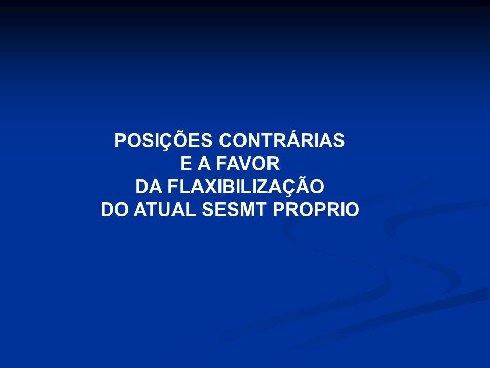 Exemplo Siderúrgica do Estado do Espírito Santos Composto pelos profissionais definidos na NR-4, dimensionados conforme Quadro II daquela Norma, consi