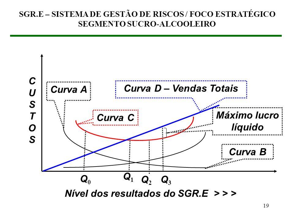 18 (2) ABORDAGEM FINANCEIRA DA GESTÃO DE RISCOS (2.3) Gestão de Riscos / Enfoque estratégico Controle de perdas Aumento de vendas SGR.E – SISTEMA DE G