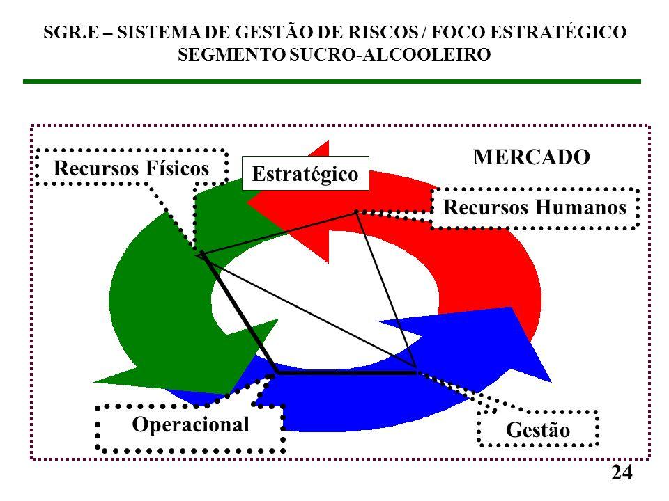 23 SGR.E – SISTEMA DE GESTÃO DE RISCOS / FOCO ESTRATÉGICO SEGMENTO SUCRO-ALCOOLEIRO (3) SGR.E (3.1) Visão geral de um SGO