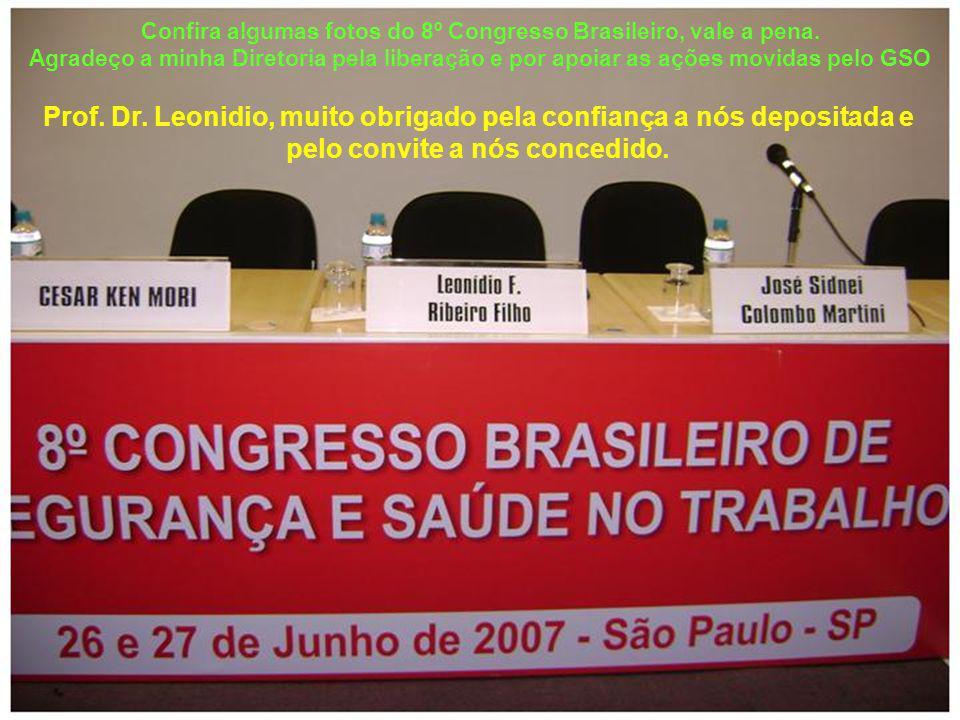 Confira algumas fotos do 8º Congresso Brasileiro, vale a pena. Agradeço a minha Diretoria pela liberação e por apoiar as ações movidas pelo GSO Prof.