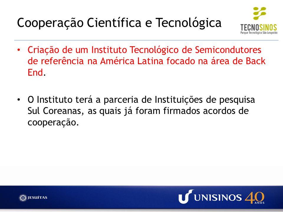 Cooperação Científica e Tecnológica Criação de um Instituto Tecnológico de Semicondutores de referência na América Latina focado na área de Back End.