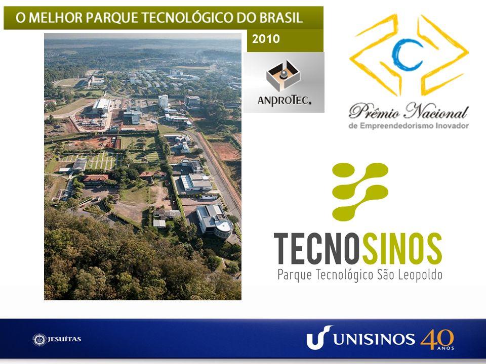TECNOSINOS ~ 250 mil m2 de área total, com 34 mil m2 de área construída 2.100 empregos diretos R$ 1 bilhão de faturamento ao ano Crescimento médio de 30% ao ano 113 novos produtos 35 novas tecnologias, significam 30% receita 48 registros de Propriedade Intelectual