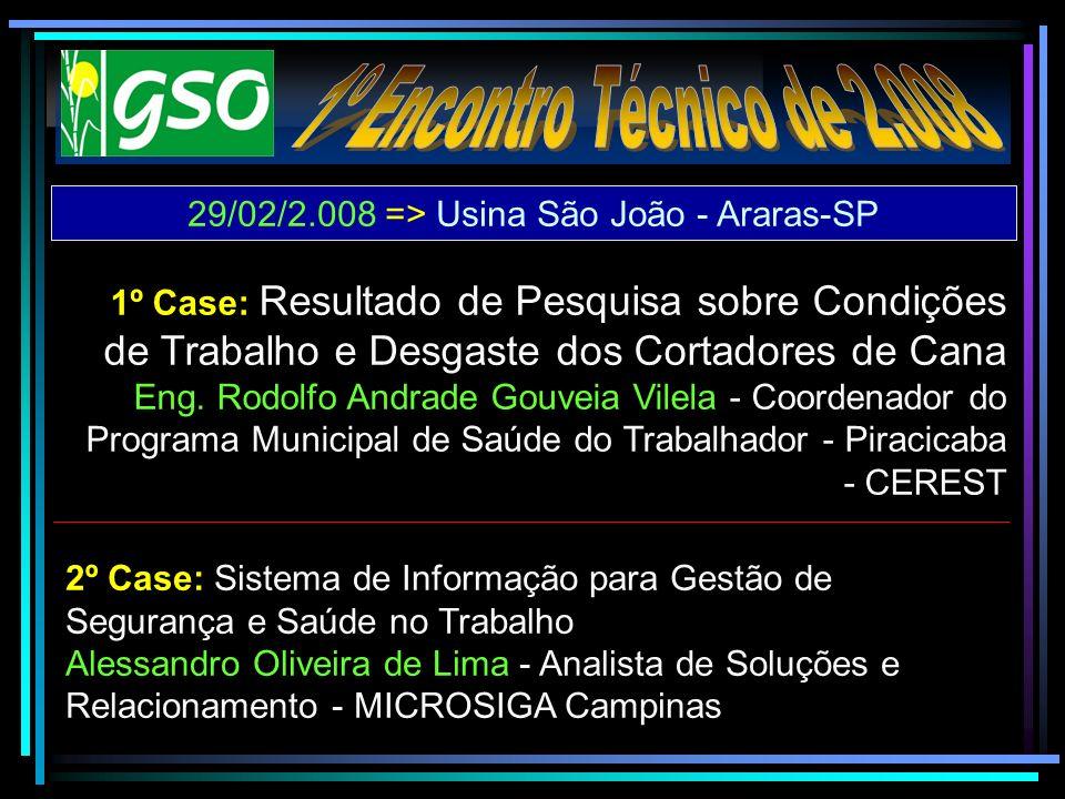 2º Case: Sistema de Informação para Gestão de Segurança e Saúde no Trabalho Alessandro Oliveira de Lima - Analista de Soluções e Relacionamento - MICR