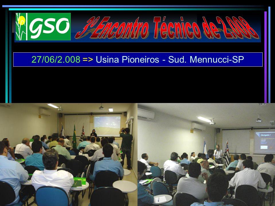 27/06/2.008 => Usina Pioneiros - Sud. Mennucci-SP