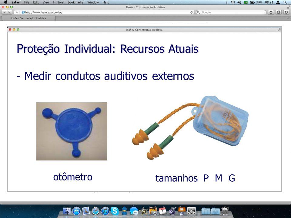 P roteção Individual: Recursos Atuais - Medir condutos auditivos externos otômetro tamanhos P M G