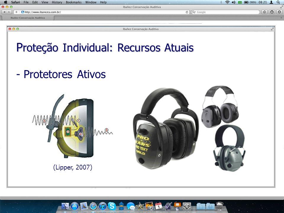 P roteção Individual: Recursos Atuais - Protetores Ativos (Lipper, 2007)