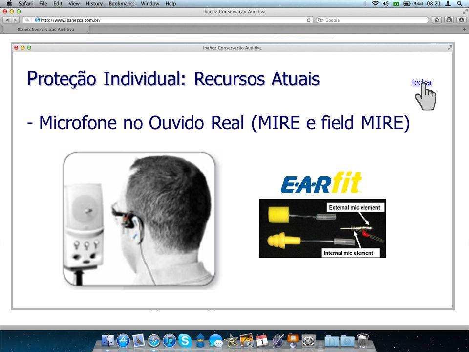 P roteção Individual: Recursos Atuais fechar - Microfone no Ouvido Real (MIRE e field MIRE)