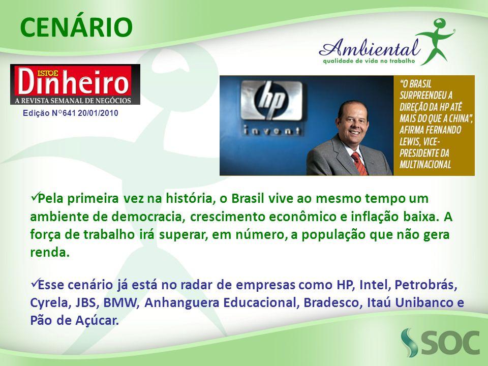 Pela primeira vez na história, o Brasil vive ao mesmo tempo um ambiente de democracia, crescimento econômico e inflação baixa. A força de trabalho irá