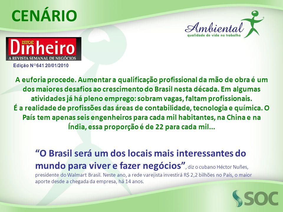 A euforia procede. Aumentar a qualificação profissional da mão de obra é um dos maiores desafios ao crescimento do Brasil nesta década. Em algumas ati