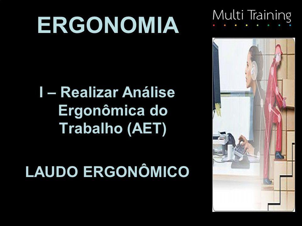 ERGONOMIA I – Realizar Análise Ergonômica do Trabalho (AET) LAUDO ERGONÔMICO