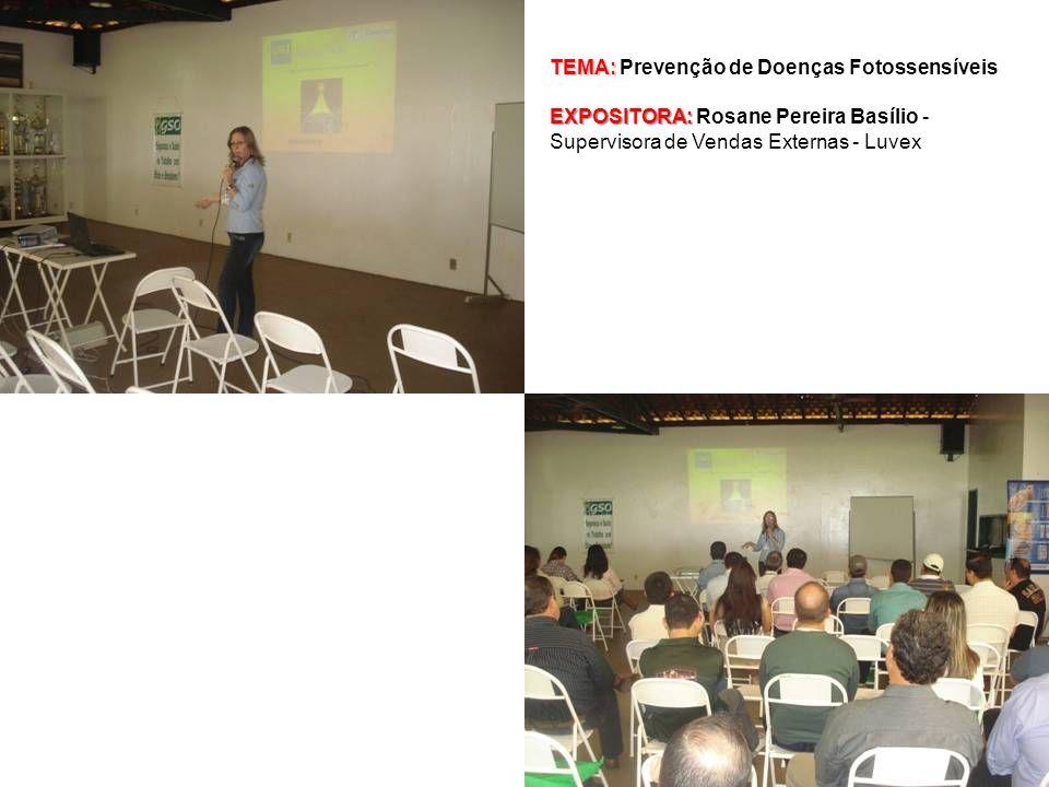 TEMA: TEMA: Prevenção de Doenças Fotossensíveis EXPOSITORA: EXPOSITORA: Rosane Pereira Basílio - Supervisora de Vendas Externas - Luvex