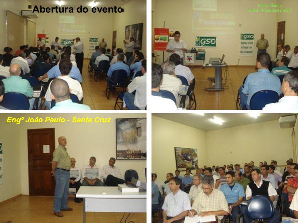Abertura do evento Engº João Paulo - Santa Cruz Mário Márcio Diretor Presidente GSO