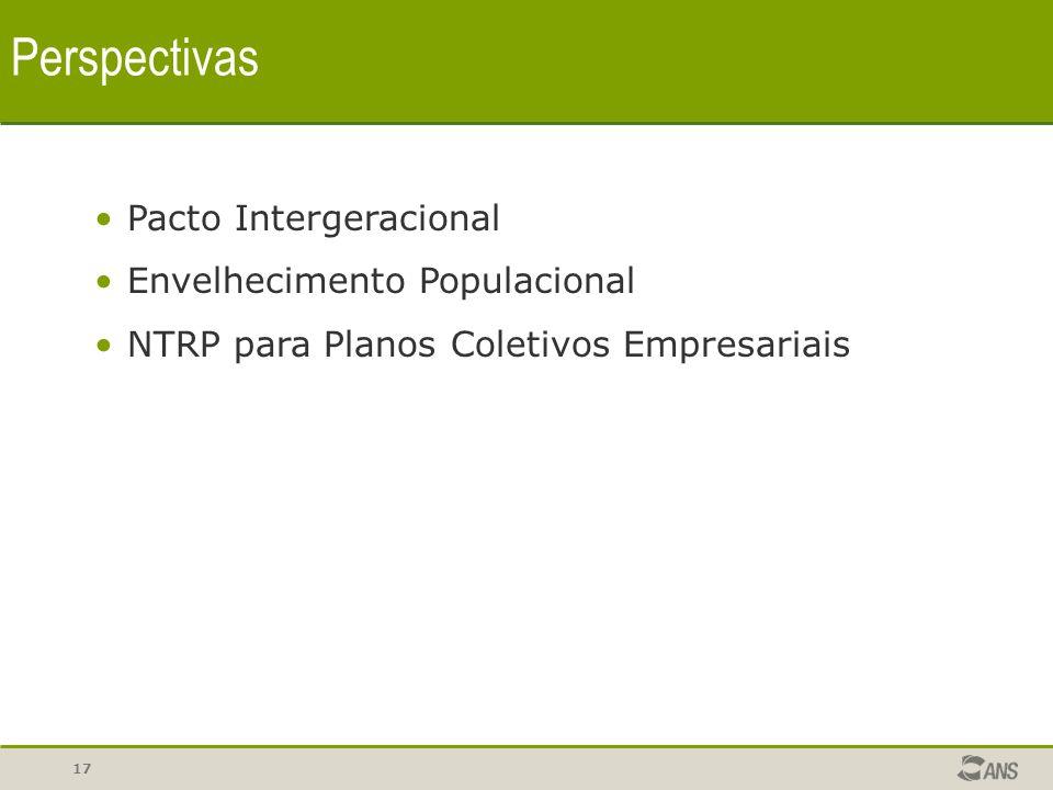 17 Perspectivas Pacto Intergeracional Envelhecimento Populacional NTRP para Planos Coletivos Empresariais