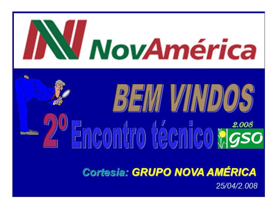 Data 25/04/2.008 - 6ª feira - Cortesia Grupo Nova América Evento 2 º Encontro Técnico do GSO no ano de 2.008 Local Câmara dos Vereadores de Tarumã Endereço Rua dos Crisântemos nº 40 - TARUMÃ - SP.
