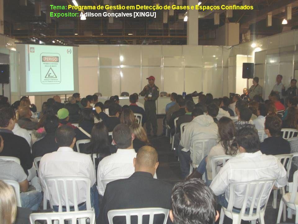 Tema: Programa de Gestão em Detecção de Gases e Espaços Confinados Expositor: Adilson Gonçalves [XINGU]