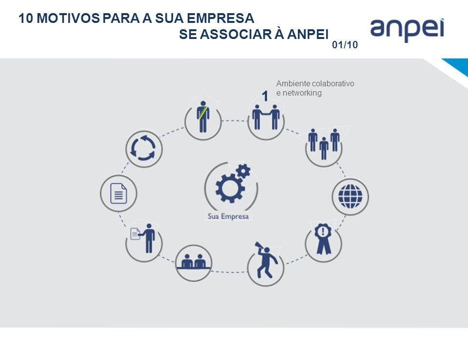 10 MOTIVOS PARA A SUA EMPRESA SE ASSOCIAR À ANPEI 01/10 Ambiente colaborativo e networking 1
