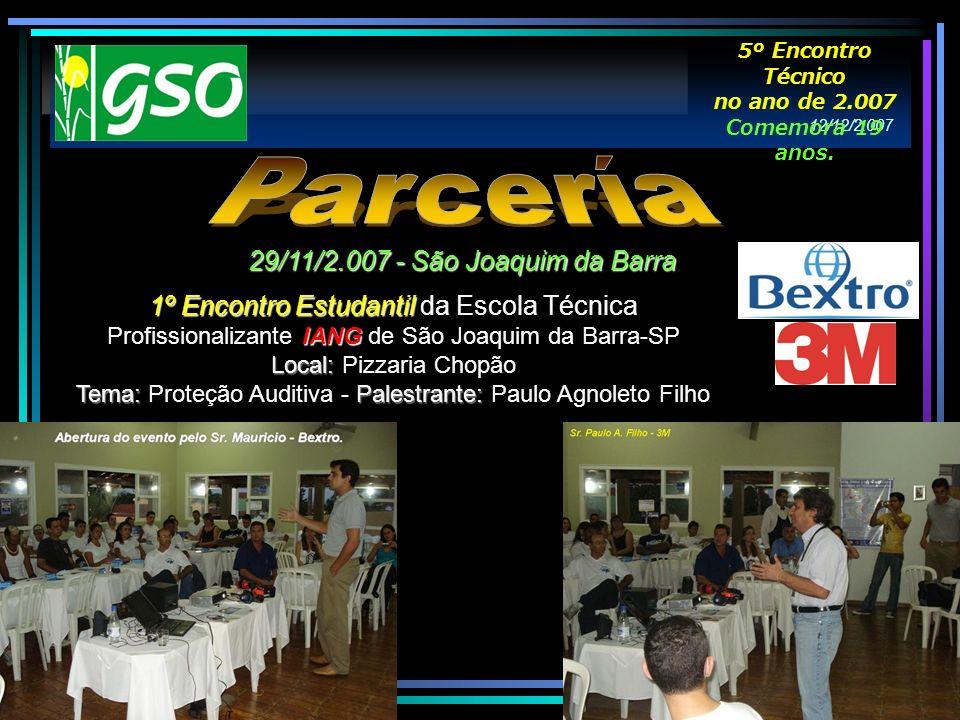 1º Encontro Estudantil IANG 1º Encontro Estudantil da Escola Técnica Profissionalizante IANG de São Joaquim da Barra-SP Local: Local: Pizzaria Chopão