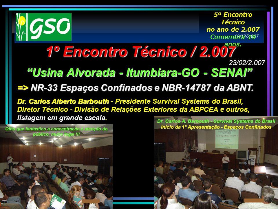 => NR-33 Espaços Confinados e NBR-14787 da ABNT. Dr. Carlos Alberto Barbouth Dr. Carlos Alberto Barbouth - Presidente Survival Systems do Brasil, Dire